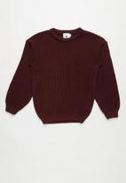 Rebel Republic - Teens knit - burgundy