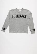 Rebel Republic - Slogan pullover - grey & black