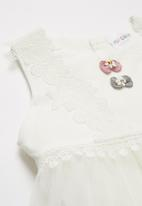 POP CANDY - Combo dress - white