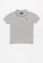 POLO - Classic short sleeve golfer - grey