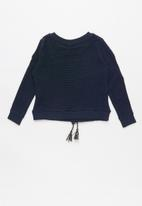 POLO - Girls claire textured pullover - navy