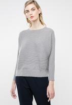 MANGO - Ribbed knitted sweater - grey