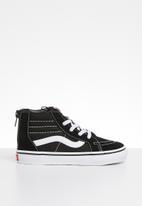 Vans - Sk8-hi zip sneaker - black & white