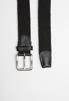 Jack & Jones - Spring woven belt - black