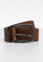 Jack & Jones - Victor leather belt - brown