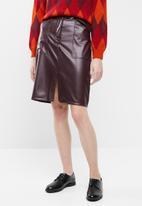Superbalist - Pencil skirt with self fabric tie - burgundy