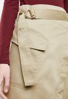 Superbalist - Utility midi skirt - beige
