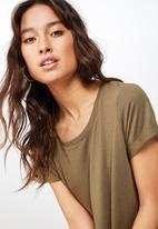 Cotton On - Tina T-shirt dress - khaki