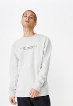 Cotton On - Crew fleece sweater - grey