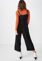 Cotton On - Woven jolene strappy jumpsuit - black