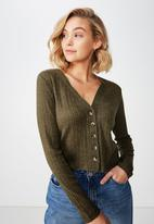 Cotton On - Angelina button through cardi - olive