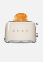 Smeg - Retro 950w 2 slice toaster - cream