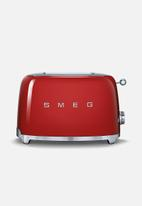 Smeg - Retro 950w 2 slice toaster - red