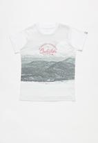 Quiksilver - Lost in the mountains tee - white