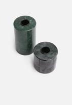 Sixth Floor - Fawn candle holder set of 2 - green