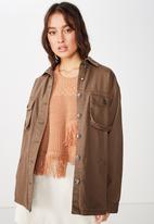 Cotton On - Workwear jacket - brown