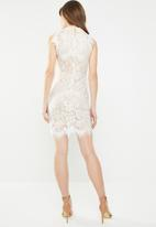 c(inch) - Lace detail dress - white