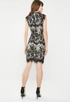 c(inch) - Lace detail dress - black