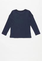 Cotton On - Long sleeve embellished tee - navy