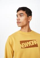 Cotton On - Crew fleece sweater - yellow