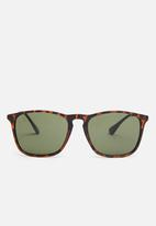 Jack & Jones - Pirma wayfarer sunglasses - black & brown