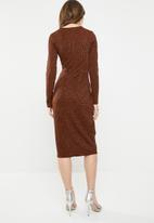 dailyfriday - Twist front dress - rust