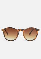 Jack & Jones - Pirma pantos sunglasses - brown & black