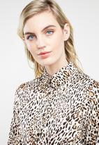 Superbalist - Twist front animal print dress - multi