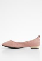 ONLY - Bell heeled ballerina - old rose