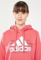 adidas Performance - Ladies graphic hood - pink