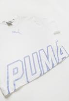 PUMA - Kids alpha logo Tee - white