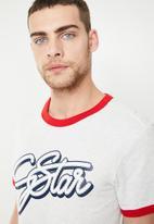 G-Star RAW - Ringer T-shirt - grey