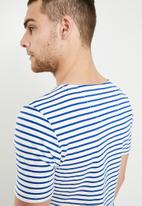G-Star RAW - Xartto short sleeve tee - blue & white