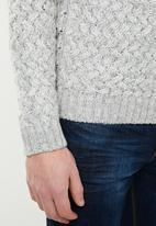 Only & Sons - Odin melange high neck knit - grey