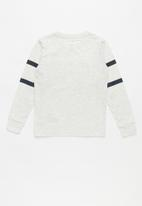 Converse - Converse All Star striped long sleeve tee - grey & navy