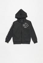 Converse - Converse outline star full zip - charcoal