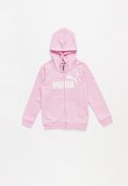PUMA - Kids ESS hooded jacket - pink