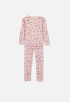 Cotton On - Alicia long sleeve girls pj set - pink & navy