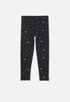 Cotton On - Huggie tights - black & white