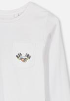 Cotton On - Tom long sleeve tee - white