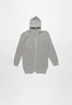 Rebel Republic - Teens Hooded Cardigan - grey