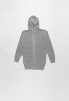 Rebel Republic - Teens Hooded Cardigan - grey