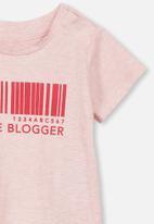 Cotton On - Jamie short sleeve tee - pink