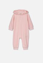 Cotton On - Velour romper - pink