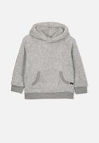 Cotton On - Raphael teddy hooded fleece - grey