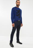 Pringle of Scotland - Leon tailored fit lion knit - blue