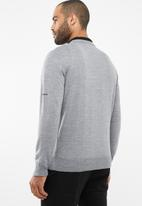 Pringle of Scotland - Leon tailored fit lion knit - grey