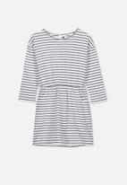Cotton On - Mara long sleeve dress - black & white