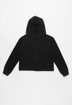Converse - Converse cropped hoodie - black