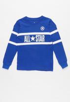 Converse - Converse All Star striped long sleeve tee - blue